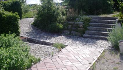 Klinker- und Granitwege