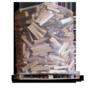 Vierkant Holz -- 15 % MEHR Brennwert und Brennholz Verpackt