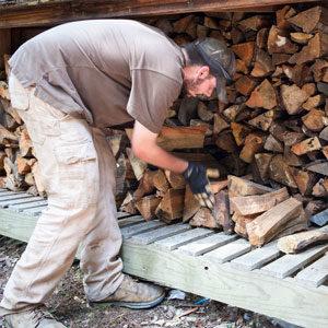 Holzaufschicht-Service